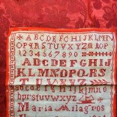 Antigüedades: DECHADO, ABECEDARIO O MUESTRARIO ANTIGUO ESCOLAR. Lote 186114397