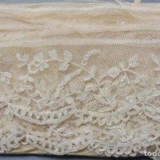 Antigüedades: ANTIGUO ENCAJE DE BRUSELAS S. XIX. Lote 186137251