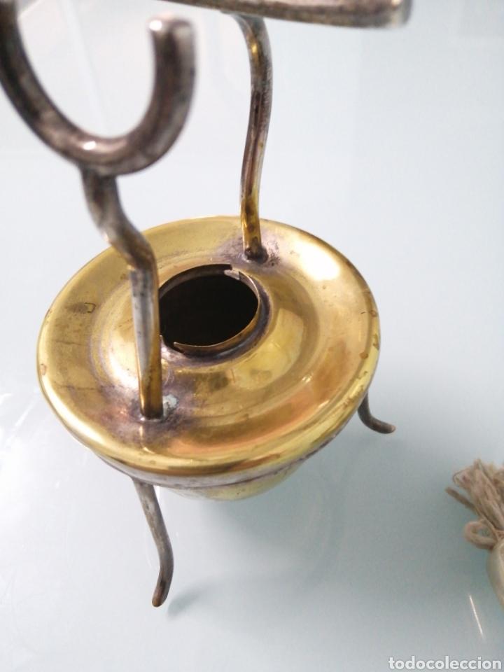 Antigüedades: ANTIGUO CALIENTA COPAS METAL PLATEADO. NUNCA USADO: SIN ZONA DE QUEMADO. - Foto 4 - 186149431