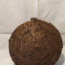 Antigüedades: CANTIMPLORA DE MIMBRE, SIGLO XIX, VER. Lote 186151836
