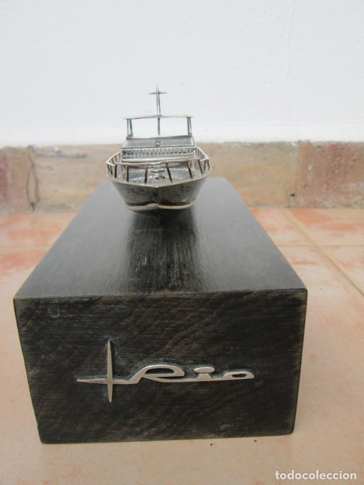 Antigüedades: Bonito y antiguo trofeo en plata de Aureli Bisbe. - Foto 2 - 186157063