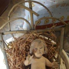 Antigüedades: NIÑO JESÚS OLOT. PRESENTA DEFECTOS. CUÑA ORIGINAL. Lote 186157555