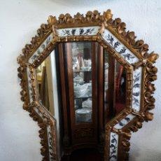 Antigüedades: GRAN ESPEJO ELEGANTE DE MADERA Y CRISTAL S. XIX. Lote 186165562