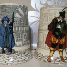 Antigüedades: LOTE JARRAS CERVEZA PORCELANA ROYAL DOULTON MADE IN ENGLAND. Lote 186145838