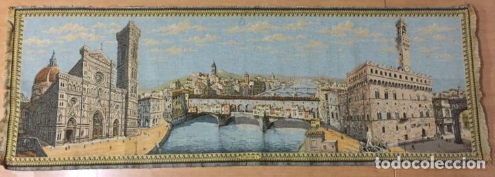 Antigüedades: Tapiz Florencia. 148x51cm - Foto 2 - 186188556
