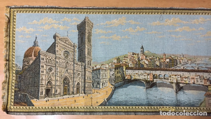 Antigüedades: Tapiz Florencia. 148x51cm - Foto 3 - 186188556