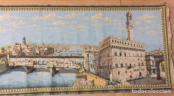 Antigüedades: Tapiz Florencia. 148x51cm - Foto 4 - 186188556