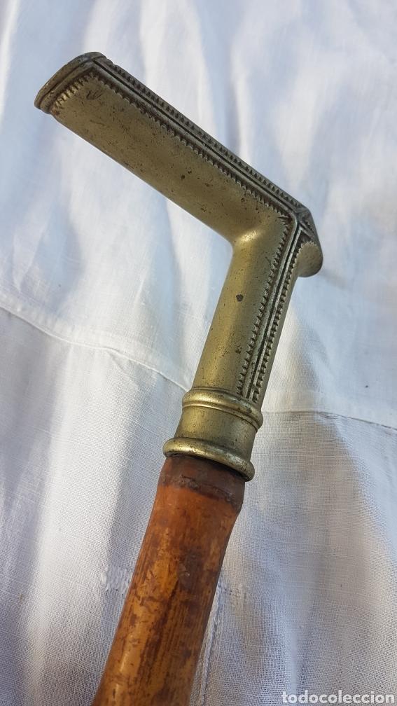 Antigüedades: Antiguo baston mango de alpaca y bambu w - Foto 3 - 186214808