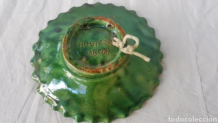 Antigüedades: Plato ceramica Ubeda años 80 Almarza w - Foto 2 - 186220018