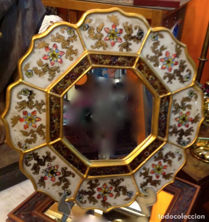 Antigüedades: Espejo Artesanal 36CM - Foto 2 - 186223583