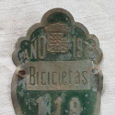 Antiguidades: ANTIGUA MATRÍCULA BICI BICICLETA ALMAGRO 1972. Lote 186240026