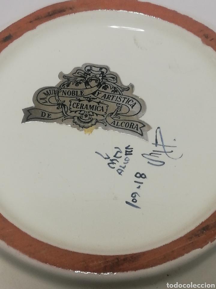 Antigüedades: Preciosa sopera de ceramica esmaltada firma sello Alcora - Foto 4 - 186267752