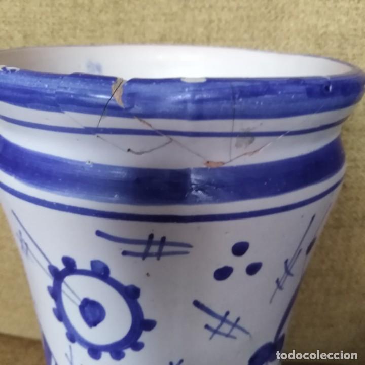 Antigüedades: Antiguo albarelo, bote de farmacia. años 30 - Foto 10 - 184187856