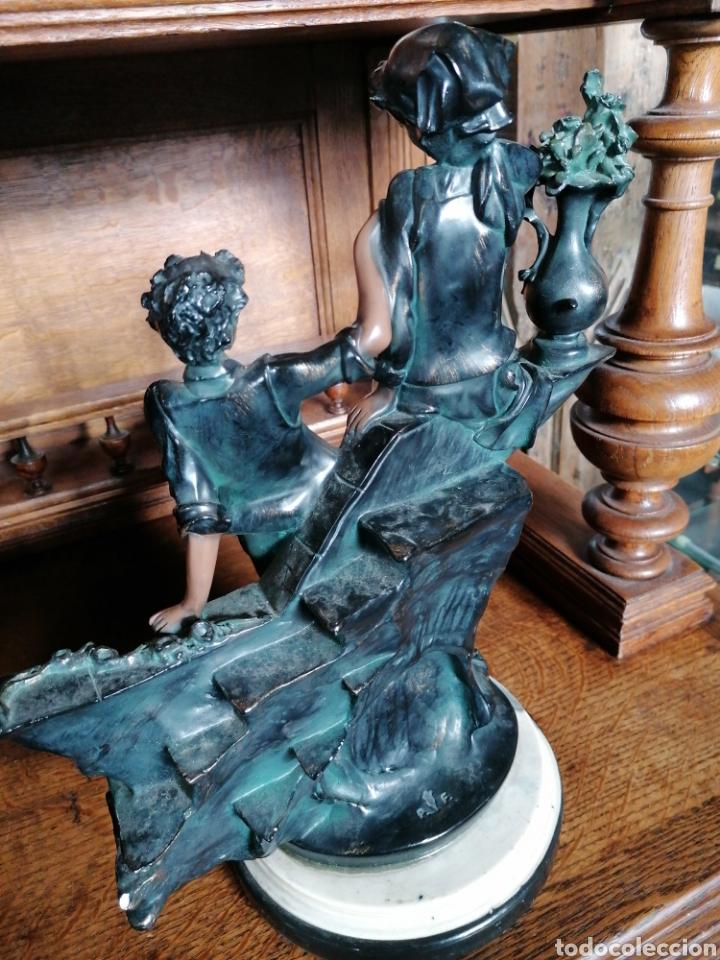 Antigüedades: Escultura de color de bronce envejecido - Foto 6 - 186289962
