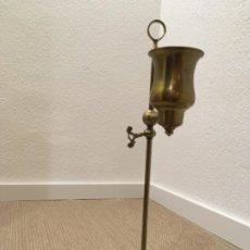 Antigüedades: CANDIL, LÁMPARA DE ACEITE DEL BRONCE, SIGLO XIX. Lote 186293783