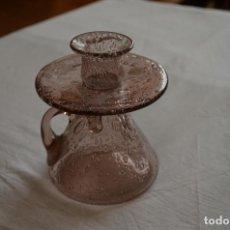 Antigüedades: PALMATORIA DE CRISTRAL SOPLADO. Lote 186303776