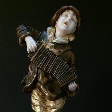 Antigüedades: ESCULTURA CRISELEFANTINA ACORDEONISTA, BRONCE Y MARFIL, FIRMADO CHIPARUS. Lote 186310341