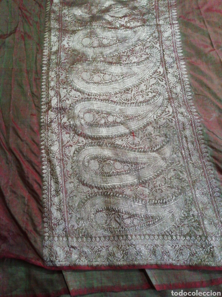 Antigüedades: Tela para sari - Foto 2 - 186312105