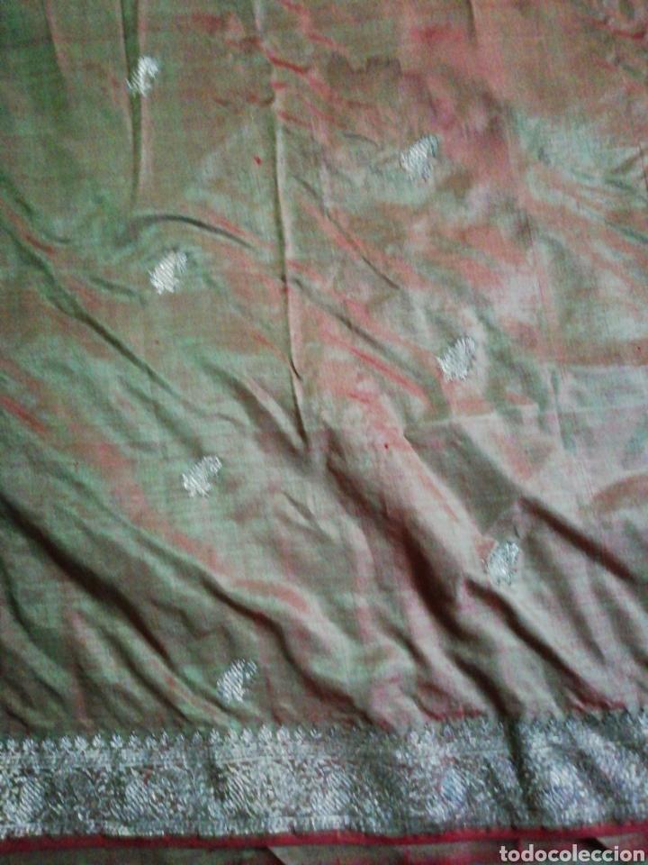 Antigüedades: Tela para sari - Foto 4 - 186312105