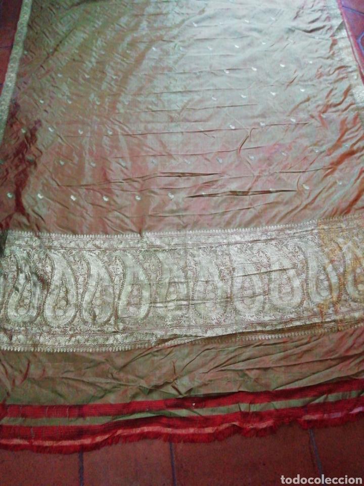 Antigüedades: Tela para sari - Foto 5 - 186312105