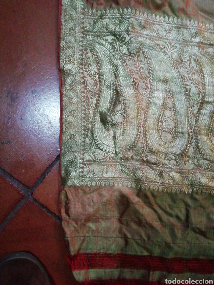 Antigüedades: Tela para sari - Foto 6 - 186312105