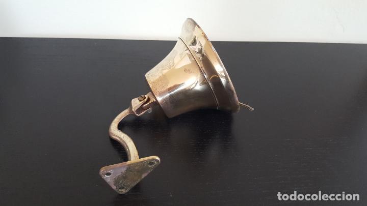 Antigüedades: LLAMADOR CAMPANA DE BRONCE - Foto 2 - 186318246