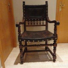 Antigüedades: SILLON DE AYUNTAMIENTO MAS DE 100 AÑOS DE LA PRIMERA REPUBLICA ESPAÑOLA. Lote 186319896