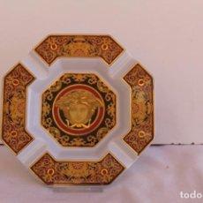 Antigüedades: CENICERO OCTOGONAL PORCELANA VERSACE. Lote 206576638