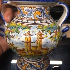 Antigüedades: PEQUEÑO JARRÓN DE TALAVERA. Lote 186327067