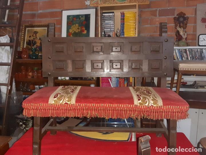 BANCO CASTELLANO (Antigüedades - Muebles Antiguos - Sillas Antiguas)