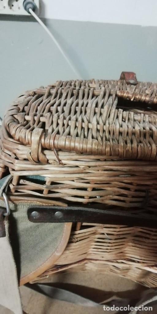 Antigüedades: Cesta de pesca antigua - Foto 3 - 186336471