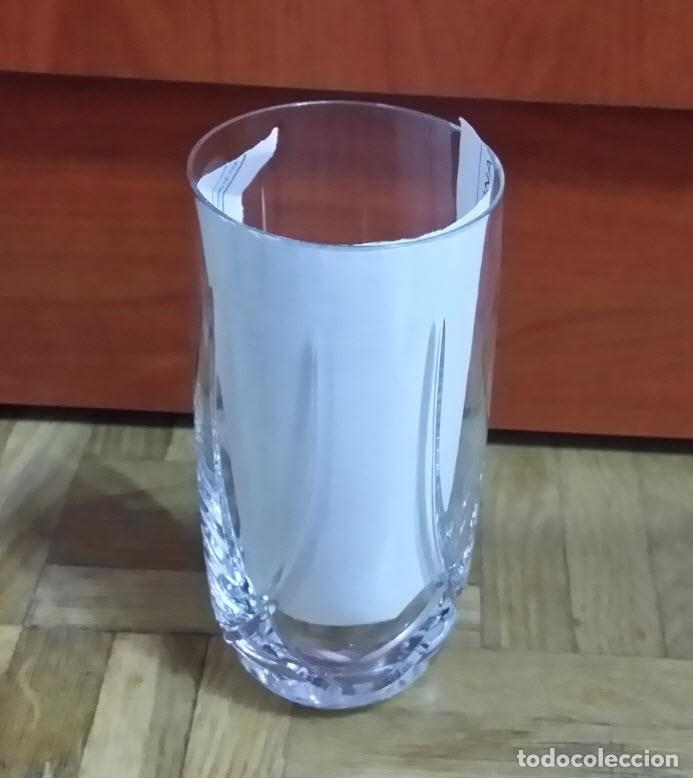 Antigüedades: Juego de 6 Vasos y Cubitera de Cristal - Foto 2 - 186350268