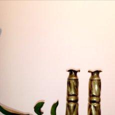 Antigüedades: CANDELABROS DE BRONCE. Lote 186350682