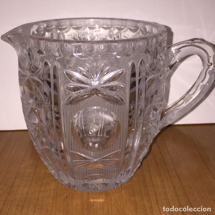 JARRA CRISTAL TALLADO (Antigüedades - Cristal y Vidrio - Otros)