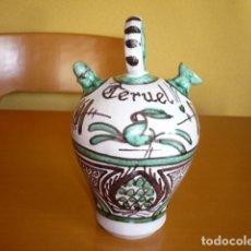 Antigüedades: BOTIJO ANTIGUO CERÁMICA TERUEL - DOMIGO PUNTER 52. Lote 186372726