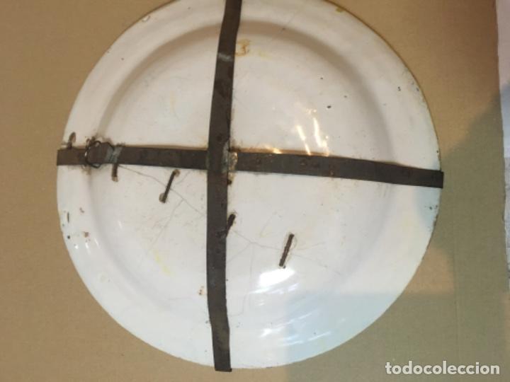 Antigüedades: (M) ANTIGUO PLATO DE RIBESALBES S.XIX LAÑADO VER FOTOGRAFÍAS 30 cm. - Foto 3 - 186375893