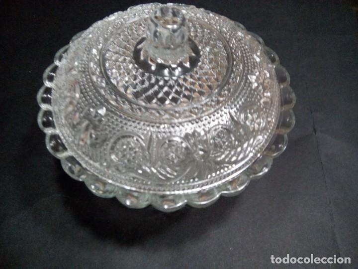 * AZUCARERO VIDRIO PRENSADO. ( RF : CG/*) (Antigüedades - Cristal y Vidrio - Catalán)