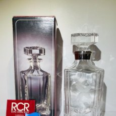 Antigüedades: BOTELLA / DECANTADOR / LICORERA WHISKY 75CL. ROYAL CRISTAL ROCK Y PLATA. SIENA. '70S. IMPECABLE.. Lote 186386962