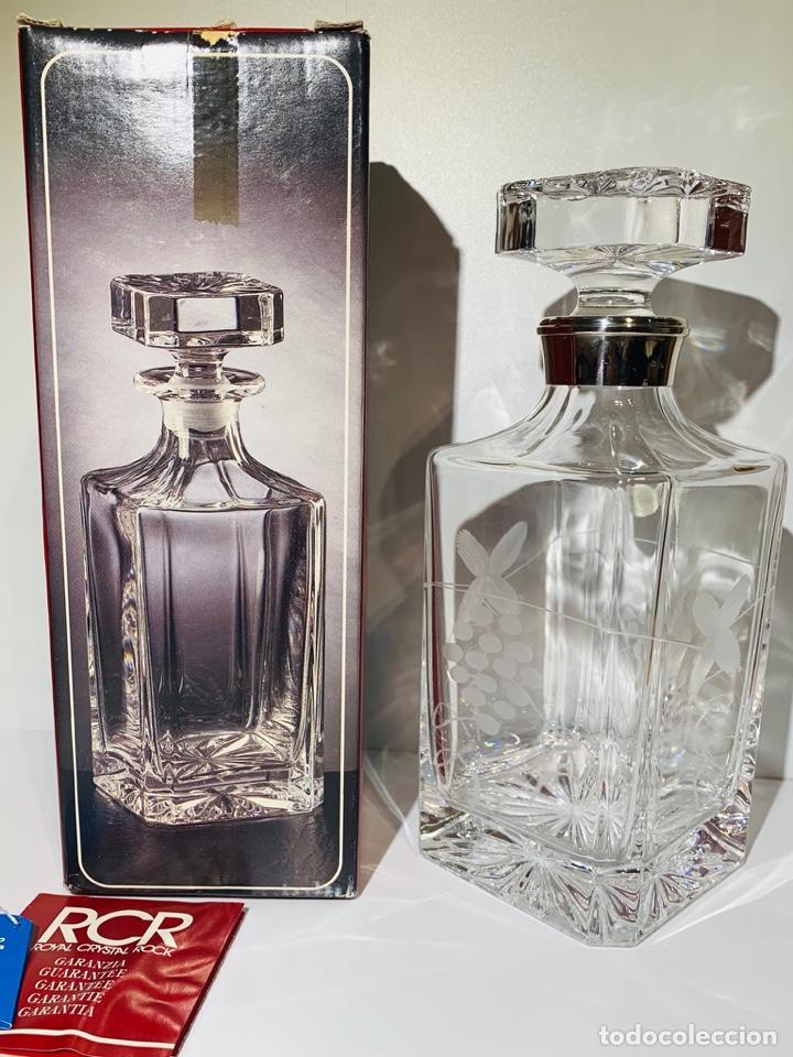 Antigüedades: Botella / Decantador / Licorera Whisky 75cl. Royal Cristal Rock y Plata. Siena. '70s. Impecable. - Foto 2 - 186386962