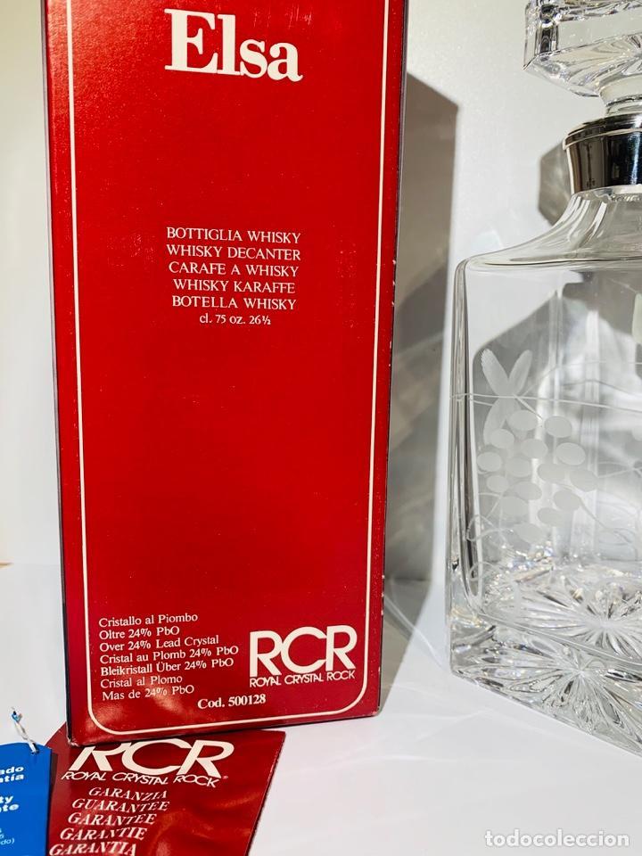 Antigüedades: Botella / Decantador / Licorera Whisky 75cl. Royal Cristal Rock y Plata. Siena. '70s. Impecable. - Foto 3 - 186386962