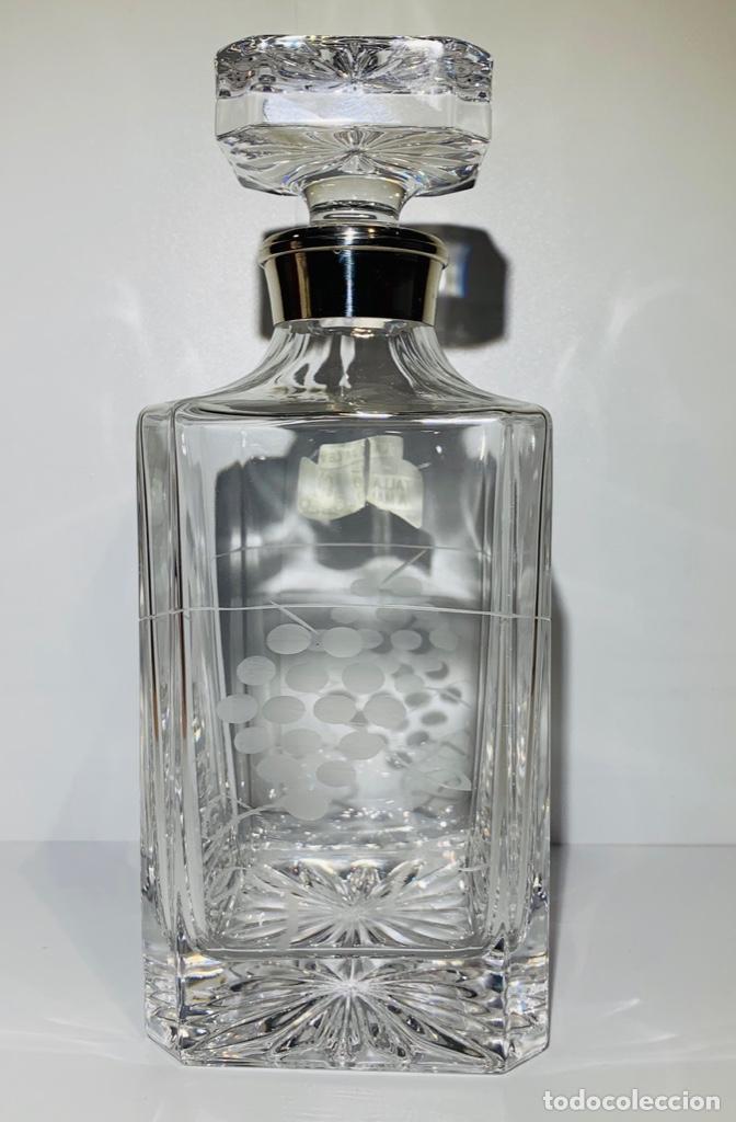 Antigüedades: Botella / Decantador / Licorera Whisky 75cl. Royal Cristal Rock y Plata. Siena. '70s. Impecable. - Foto 9 - 186386962
