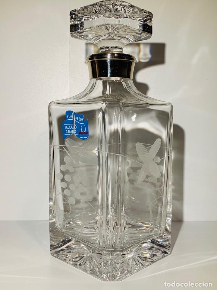 Antigüedades: Botella / Decantador / Licorera Whisky 75cl. Royal Cristal Rock y Plata. Siena. '70s. Impecable. - Foto 12 - 186386962