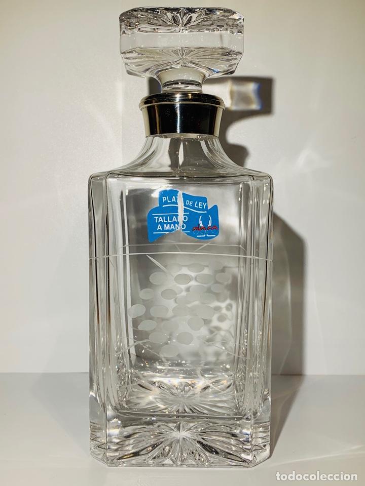 Antigüedades: Botella / Decantador / Licorera Whisky 75cl. Royal Cristal Rock y Plata. Siena. '70s. Impecable. - Foto 13 - 186386962
