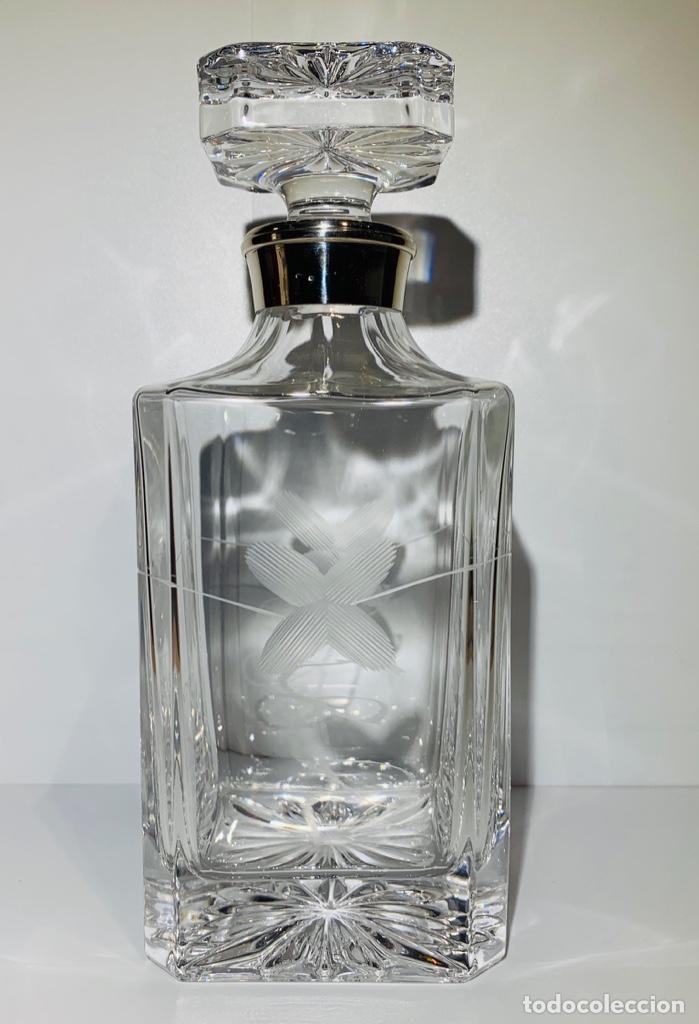 Antigüedades: Botella / Decantador / Licorera Whisky 75cl. Royal Cristal Rock y Plata. Siena. '70s. Impecable. - Foto 17 - 186386962