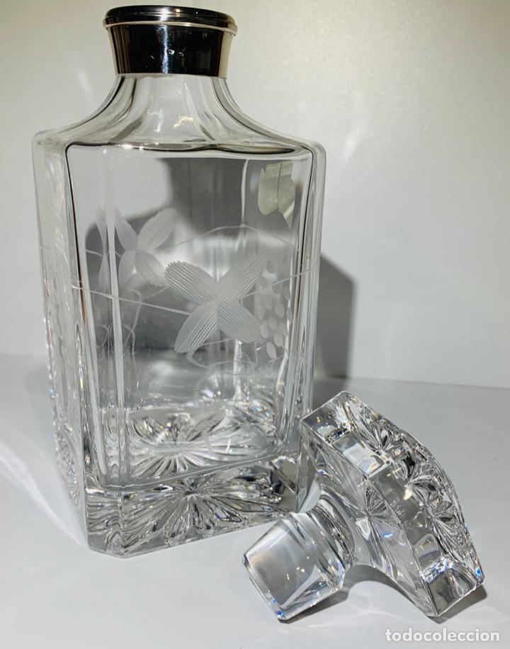 Antigüedades: Botella / Decantador / Licorera Whisky 75cl. Royal Cristal Rock y Plata. Siena. '70s. Impecable. - Foto 29 - 186386962