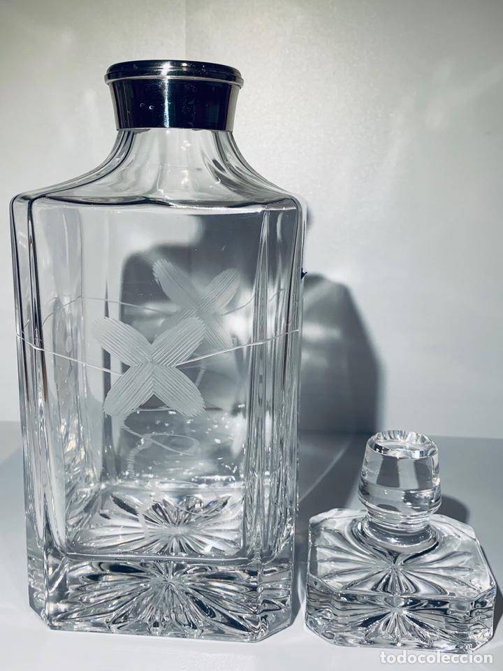 Antigüedades: Botella / Decantador / Licorera Whisky 75cl. Royal Cristal Rock y Plata. Siena. '70s. Impecable. - Foto 38 - 186386962