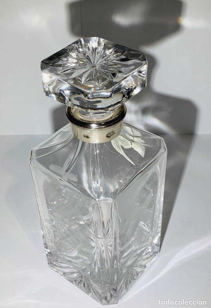 Antigüedades: Botella / Decantador / Licorera Whisky 75cl. Royal Cristal Rock y Plata. Siena. '70s. Impecable. - Foto 39 - 186386962