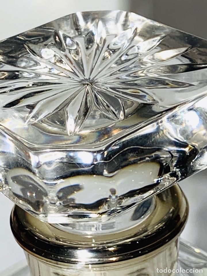 Antigüedades: Botella / Decantador / Licorera Whisky 75cl. Royal Cristal Rock y Plata. Siena. '70s. Impecable. - Foto 42 - 186386962