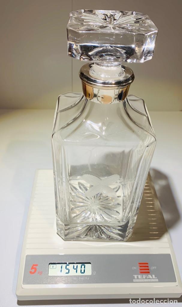 Antigüedades: Botella / Decantador / Licorera Whisky 75cl. Royal Cristal Rock y Plata. Siena. '70s. Impecable. - Foto 48 - 186386962