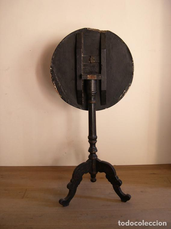 Antigüedades: MESA VELADOR GUERIDON S. XIX - Foto 4 - 186394791